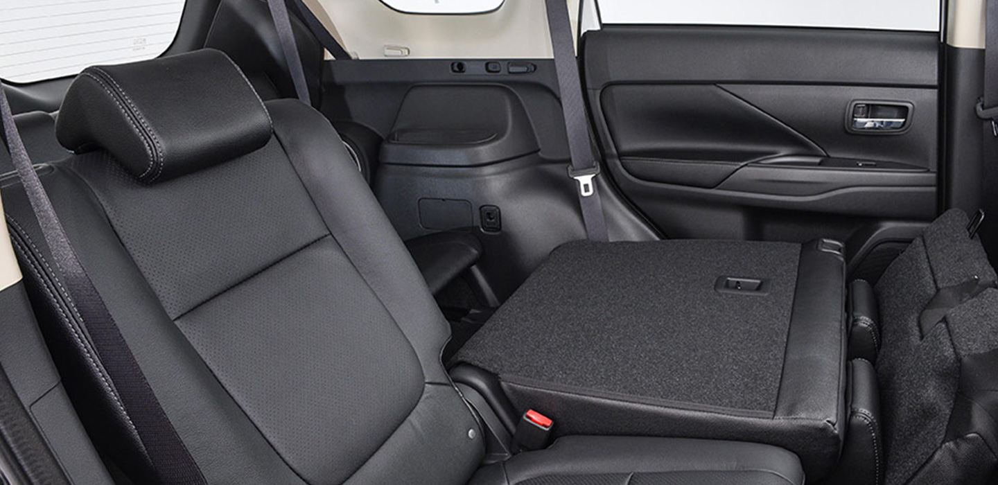 Mitsubishi Outlander Interior - Folded Back Seat