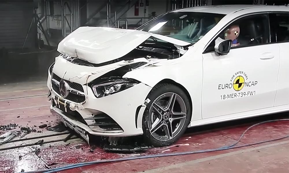 MERCEDES-BENZ A-CLASS UNDERGO EURO NCAP TEST